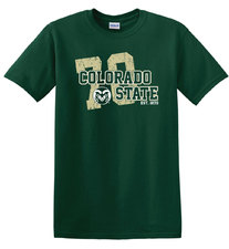 CSU Rams Green 1870 T-shirt
